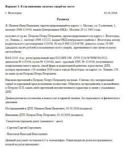 Образец расписки в получении денежных средств за залив квартиры